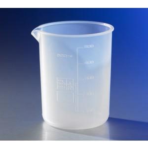 Vaso de precipitado de 500 ml de plástico reutilizable, graduado, perfluoroalcoxi-copolímero, 6 Uds.
