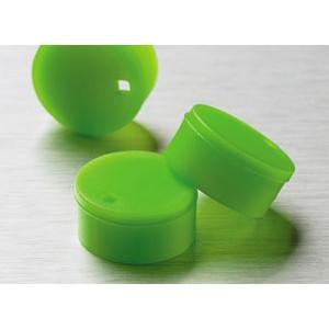 Cubretapones para crioviales, polipropileno, verde, 500 Uds.