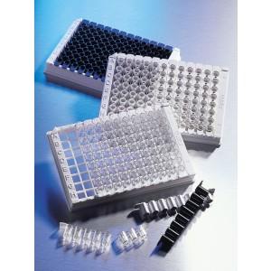 Microplaca 96 pocillos de poliestireno, blanca, adherencia media, volumen bajo, sin tapa, no estéril, 100 Uds.