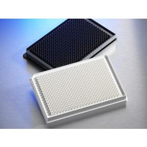 Microplaca 384 pocillos de poliestireno blanco, borde bajo, fondo plano, adherencia alta, sin tapa, no estéril, 50 Uds.