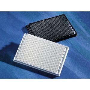 Microplaca 1536 pocillos blanca de poliestireno, no tratada, sin tapa, no estéril, con código, 50 Uds.