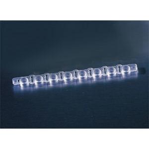 Thermowell GOLD, tiras de tapones, planos, 1×8, transparentes para RT-PCR, 1250 Uds.