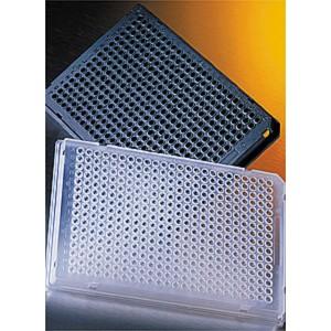 Microplaca PCR 384 pocillos Thermowell GOLD con medio faldón, transparente con código de barras, no estéril, 50 Uds.
