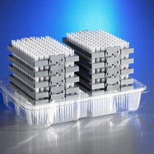 DeckWorks, Puntas1-200µl,baja adherencia,graduadas,sistema de recarga, transparentes,PP,no estériles,3.840Uds.