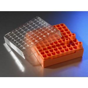 Caja de almacenaje para Crioviales de 1 -2ml de policarbonato, capacidad 81 viales, 10 uds.