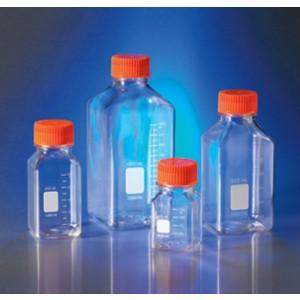 Botellas de almacenaje, cuadradas, PET, 500 ml, con tapas de 45 mm, 24 uds.