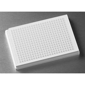 Microplaca 384 pocillos blanca de PS no tratado, fondo redondo, volumen bajo, sin tapa, no estéril, 50 Uds.