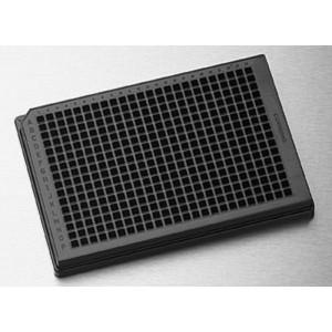 Microplaca 384 pocillos negra de poliestireno NBS, fondo redondo, volumen bajo, sin tapa, no estéril, 50 Uds.