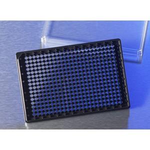 Microplaca 384 pocillos COC media área, ultratransparente para imágenes alta calidad, con tapa, 20 Uds.
