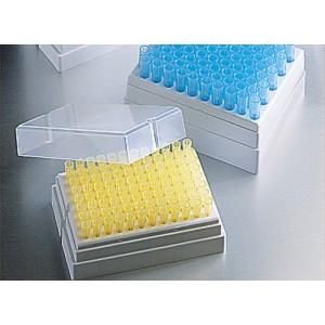 Puntas de pipeta universales, 1-200µl, graduadas, transparente, estéril, en racks, 4800 uds.