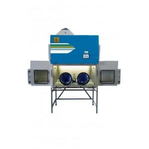 Aislador aséptico GloveFAST Aseptic 2-6-4 (2 exclusas, 1.8 m, 4 guantes) con superficie de acero pintado epoxi