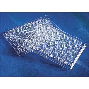 Microplaca 96 pocillos de PVC, fondo redondo, no tratada, transparente, sin tapa, no estéril, 100 Uds.
