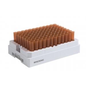 Tubos de 0.75ml, amber, no codificados, en V de Tapones de rosca, en bulk, 5 bolsas de 960 tubos