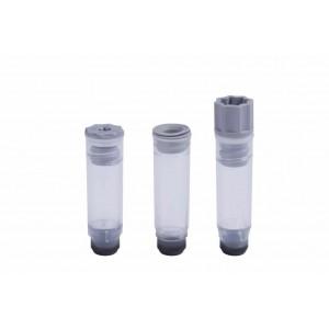 Tubos de 0,75 ml no codificados con fondo en V para tapones de rosca externa en rack Micronic 96-2 high cover (A1-H1)