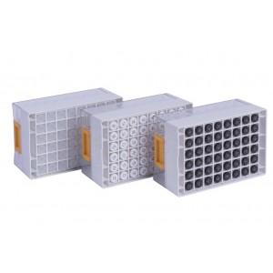 Tubos 4ml, no codificados de Tapones de rosca, en Micronic 48-4, high cover, barcoded A1-F1, 2 bolsas de 10 racks