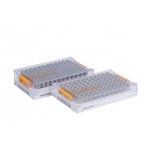 Tubos 0.50ml, alfanuméricos, en V de Tapones rosca, en Micronic 96-Q1, high cover, barcoded, 4 bolsas de 10 racks