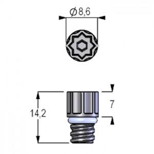 Tapones de rosca blancos de perfil estándar para tubos en formato de 96, en bolsa (960 tapones)