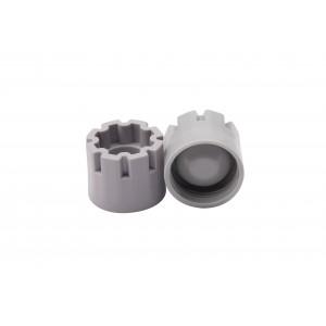 Tapones de rosca externa para tubos en formato de 96, color gris (960 tapones)