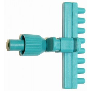 Adaptador de aspiración de plástico de 1 canale para puntas desechables, con expulsor para VACUSIP, 1 unidad