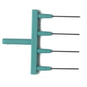 Adaptador de aspiración de plástico de 8 canales para puntas desechables, con expulsor para VACUSIP, 1 unidad