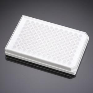 Microplaca 96 blanca tratada TC recubierta de colágeno I, de fondo plano, opaco, con tapa, 5 Uds.