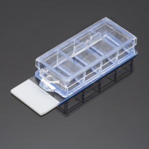 Portaobjeto para cultivo Corning Biocoat de 4 cámaras, recubierto de fibronectina, 3 paquetes de 4 Uds.
