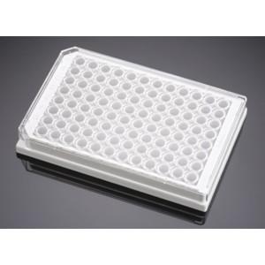 Placa Biocoat 96 pocillos, blanca, fondo plano,claro,tratada TC, recubierta colageno I, tapa, no estéril, 5 uds.
