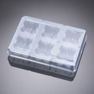 Placa 6 pocillos de pocillo profundo, poliestireno, tratada TC, 4 paquetes