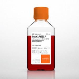 Medio DMEM con modificaciones Iscove's con L-glutamina y 25 mM HEPES sin ß-thioglycerol y ß-mercaptoethanol, 6 x 500 ml