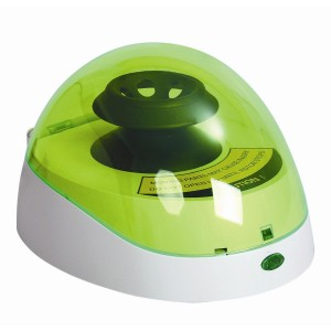 Minicentrífuga de tapa verde 175 x 148 x 118 mm, 1 equipo