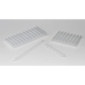 Tiras de 12 tubos de almacenamiento ClearLine® 1,1 ml , estériles, en rack
