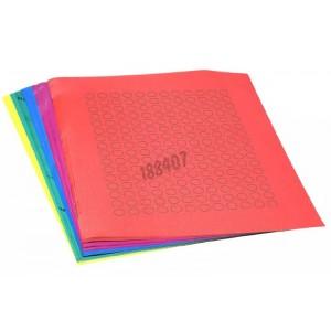 Etiquetas en hoja (Ø 9,5 mm) para microtubo 0,5 - 1,5 ml, colores combinados