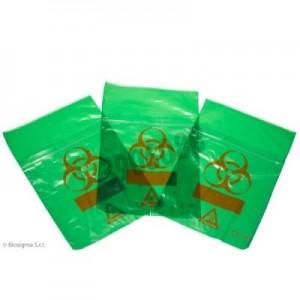 Bolsas Biohazard ClearLine® verdes para muestras