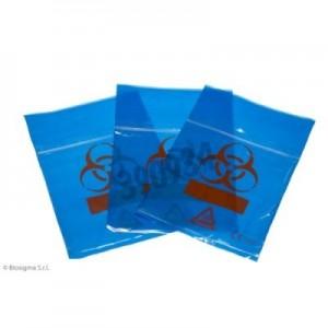 Bolsas Biohazard ClearLine® azules para muestras