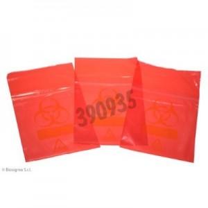 Bolsas Biohazard ClearLine® rojas para muestras