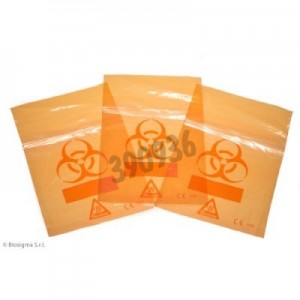 Bolsas Biohazard ClearLine® naranjas para muestras
