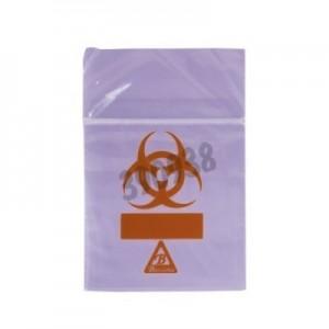 Bolsas Biohazard ClearLine® violetas para muestras