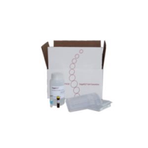Bandeja de gel de agarosa, 0.75_, ELF, marcador 75, 1 paquete de 10 unidades