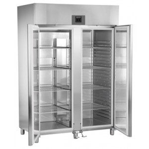 Congelador ventilado vertical de uso profesional (-16ºC_-26ºC), 1427 litros de acero inoxidable con gas R-290, bajo cons