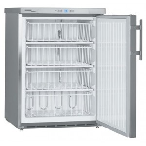 Congelador estático vertical de acero inoxidable con cerradura (-9ºC_-26ºC), 143-133 litros
