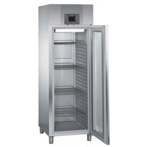 Armario frigorífico ventilado profesional 601 litros, de acero inoxidable y puerta de cristal con gas R-290, 250 W