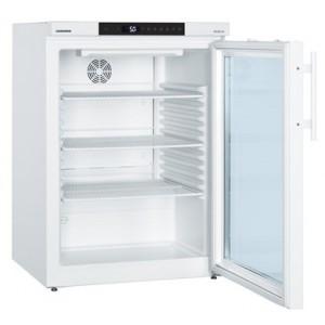 Frigorífico ventilado Mediline, 130 litros, color blanco con puerta de cristal (+3ºC_+16ºC)