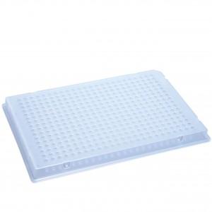 Microplaca PCR 384 poc. compatible con ABI (0,2 ml) con medio faldón, 50 Uds.