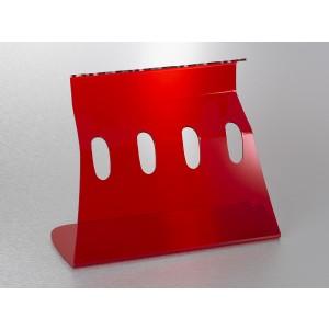 Soporte universal para 4 micropipetas, color rojo