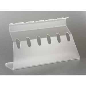 Soporte universal para 6 micropipetas, color transparente