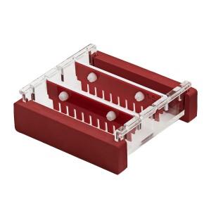 Peine 16 pocillos para uso con cubeta de 10 cm, espesor 1 mm, 1 Ud.