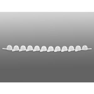 Tiras de tapones 1 x 12 para mini tubos (0,65-1,1ml), polietileno, transparente, no estéril, 400 uds.