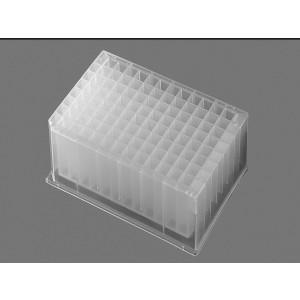 Microplaca 96 pocillos, fondo redondo, profundidad 2ml polipropileno, transparente, estéril, 25Uds.