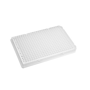 Microplaca PCR 384 pocillos,compatible con Roche Light Cycler 480 con Películas de Sellado, Blanco, No Estéril,50Uds.