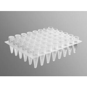 Microplaca PCR 48 pocillos de polipropileno transparente, no estéril, 50 Uds.